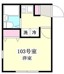 サニーコート八広[1階]の間取り