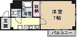 ボヌールK[202号室号室]の間取り