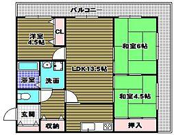 ライオンズマンション千代田柳風台[3階]の間取り