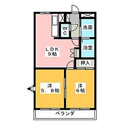 アーバンコート富士[2階]の間取り