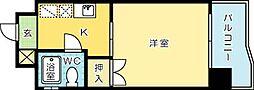 ヤングコーポ北方I[605号室]の間取り