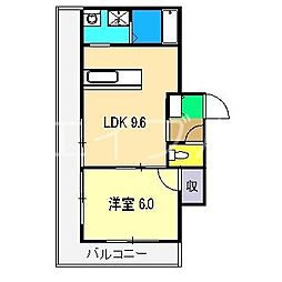 北添マンション[3階]の間取り