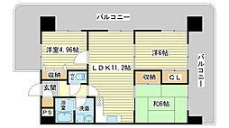 メゾンセルベイル[4階]の間取り