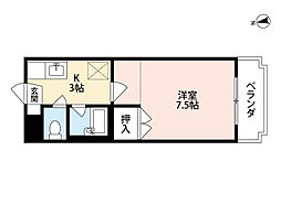 シャトレ新高I[1階]の間取り