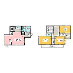 [一戸建] 愛知県大府市共和町2丁目 の賃貸【/】の間取り