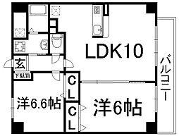 プレミアコート[6階]の間取り
