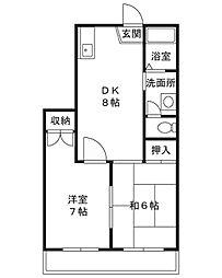 エクシア泉[1階]の間取り