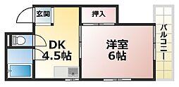 東豊ハイツ南七松[4階]の間取り