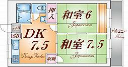 兵庫県神戸市長田区神楽町1丁目の賃貸マンションの間取り