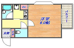クラウンハウス[402号室]の間取り