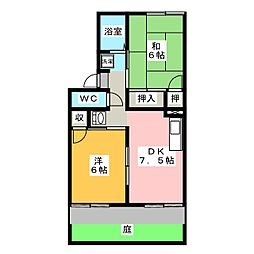 プレジール小野 A棟[1階]の間取り