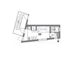 東急田園都市線 駒沢大学駅 徒歩9分の賃貸テラスハウス 2階1SKの間取り