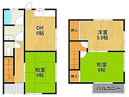 [テラスハウス] 兵庫県宝塚市美座2丁目 の賃貸【/】の間取り