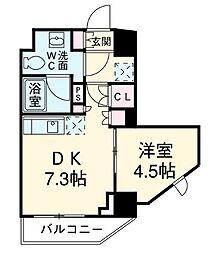 クレヴィアリグゼ三軒茶屋[1305号室]の間取り