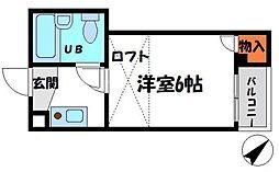 三和ビル 5階1Kの間取り