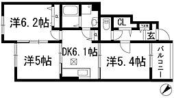 カピラ2[1階]の間取り