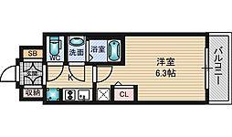 EC新大阪12オルティ 11階1Kの間取り