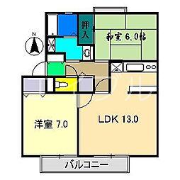 イチゴハイツII B棟[2階]の間取り
