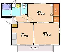 ノワハイツ[2階]の間取り