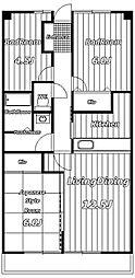 アーバン・ヒルズ21[6階]の間取り