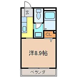 フィネス佐古[201号室号室]の間取り