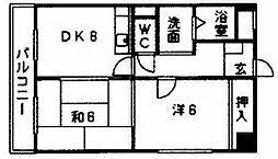 リブウェル大神[3階]の間取り