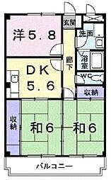 岡山県倉敷市笹沖丁目なしの賃貸マンションの間取り