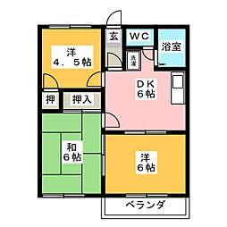 トラッドハウスA[1階]の間取り