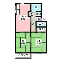 コーポ神田[1階]の間取り