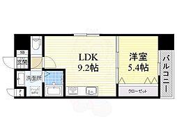 JR阪和線 三国ヶ丘駅 徒歩4分の賃貸マンション 4階1LDKの間取り