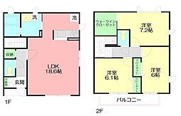 [テラスハウス] 神奈川県藤沢市渡内3丁目 の賃貸【/】の間取り