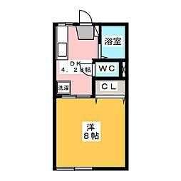 鶴田ローズタウンA棟[1階]の間取り