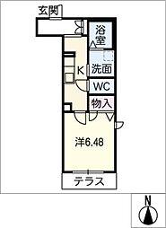 Murier桜山 1階1Kの間取り