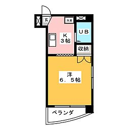 メゾン阪野[3階]の間取り