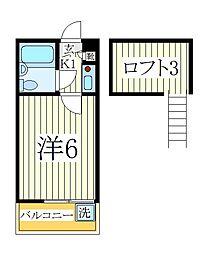 ジュネパレス江戸川台第1[2階]の間取り