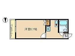 東京都大田区池上4丁目の賃貸アパートの間取り