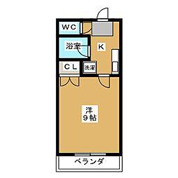 ベアフルート イイノ[4階]の間取り