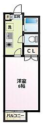 ハイツオリオン[1階]の間取り