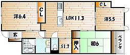 ココガモ&壺壺蒲生[2階]の間取り