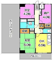 ライオンズマンション所沢東[5階]の間取り