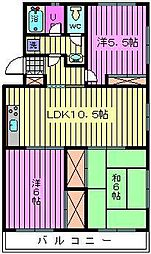 ソシア・アマヌマ[4階]の間取り