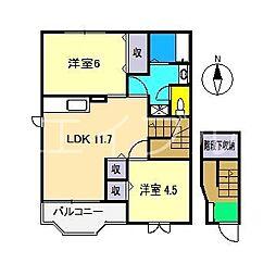 トランキル・SAIBARA[2階]の間取り