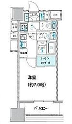 JR京葉線 越中島駅 徒歩9分の賃貸マンション 3階1Kの間取り