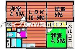 ピュア田中[4階]の間取り