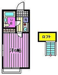 埼玉県さいたま市大宮区土手町1丁目の賃貸アパートの間取り