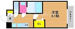 JR山陽本線 岡山駅 徒歩6分の賃貸マンション 5階1Kの間取り