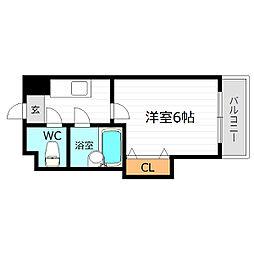 シンパシー京橋[5階]の間取り