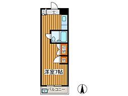 市村第二マンション[2階]の間取り