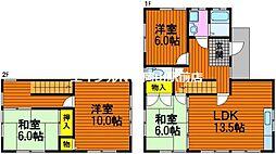 [一戸建] 岡山県岡山市中区湊丁目なし の賃貸【/】の間取り