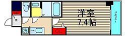 ファステ―ト難波グランプリ 14階1Kの間取り